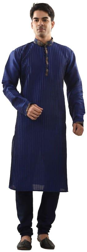 Sanwara Blue Dupion Kurta Pyjama