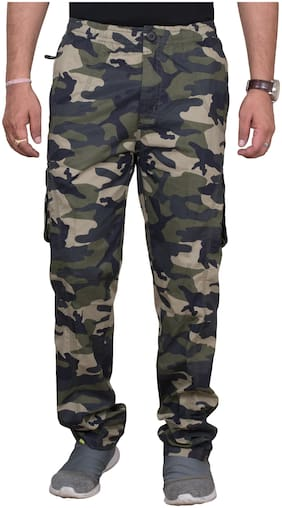 Men Regular Fit Cargos Pack Of 1