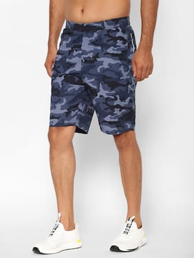 Sapper Men Blue Regular Fit Cargo Shorts