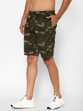 Sapper Men Green Regular Fit Regular Shorts