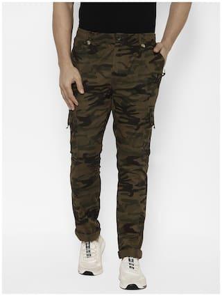 Sapper Men Brown Camouflage Slim fit Cargos