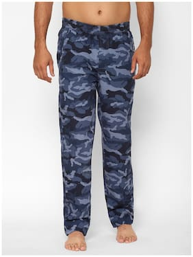 SAPPER Men Green Camouflage Cotton Pyjama