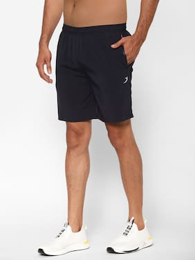 Sapper Men Polyester Solid Navy Blue Sports Shorts