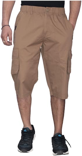 Sapper Men Yellow Regular Fit Regular Shorts