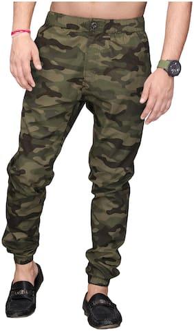 Sapper Men Poly cotton Track Pants - Dark green