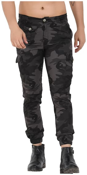Men Slim Fit Cargos Pack Of 1