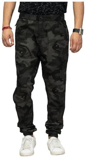 Sapper Men Cotton Track Pants - Black