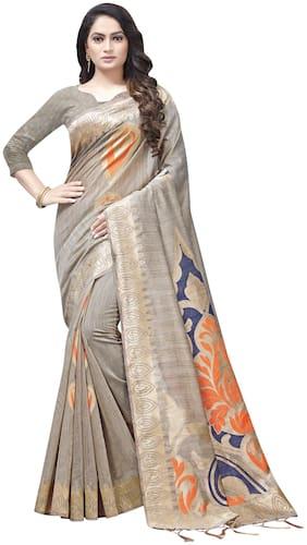 Cotton Banarasi Saree ,Pack Of 1