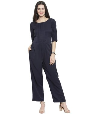 Sayesha Solid Jumpsuit - Blue