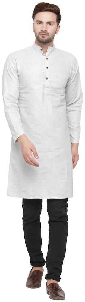 Sayesha Men Grey Regular Fit Kurta