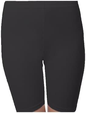 sri belha fashions Women Solid Denim capri - Black