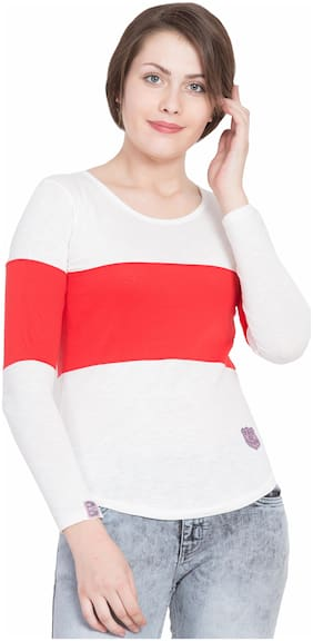 SBO FASHION Women Multi Regular fit Round neck Cotton T shirt