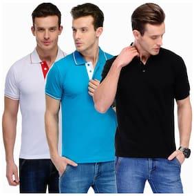 Scott International Men Multi Slim fit Cotton Mandarin collar T-Shirt - Pack Of 1