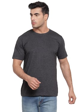 Scott International Men Dark grey Regular fit Cotton Round neck T-Shirt - Pack Of 1