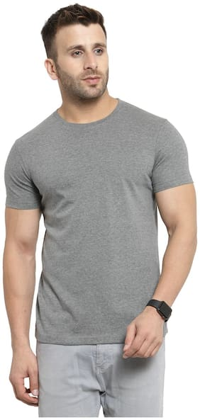 Scott International Men Charcoal Regular fit Cotton Round neck T-Shirt - Pack Of 1