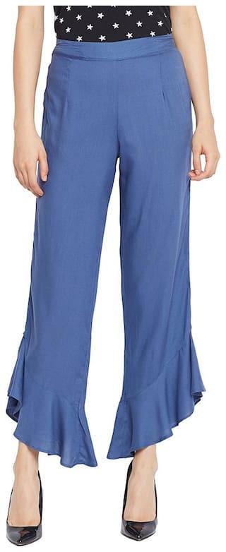 OXOLLOXO Women Grey Regular fit Regular trousers