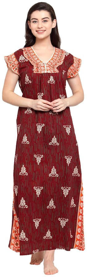 Secret Wish Maroon Night Gown
