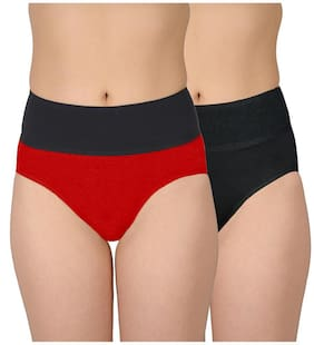 Selfcare Set Of 2 Women's Tummy Controller Hipster Panties