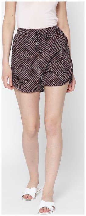 Women Polyester Regular Fit Shorts