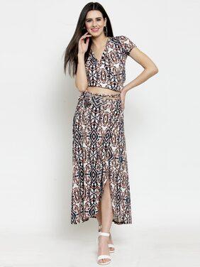 Sera Cotton Abstract Fit & Flare Dress Multi
