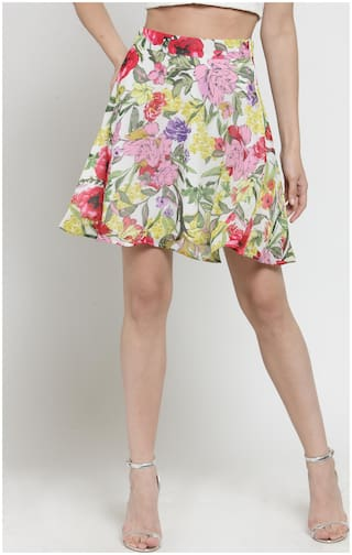 Sera Floral Flared skirt Mini Skirt - Multi