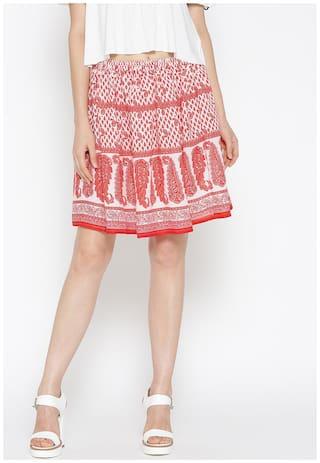 Sera Printed Flared skirt Mini Skirt - Multi