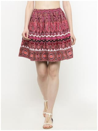 Sera Printed A-line skirt Mini Skirt - Multi