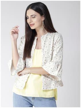 Women Corduroy Regular FIt Blazer