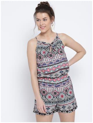 Sera Printed Jumpsuit - Pink