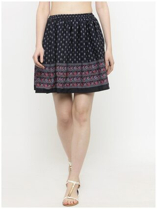 Sera Women's Western wear navy printed Skirt