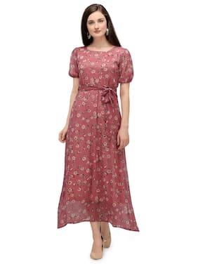 Serein Pink Floral Maxi dress
