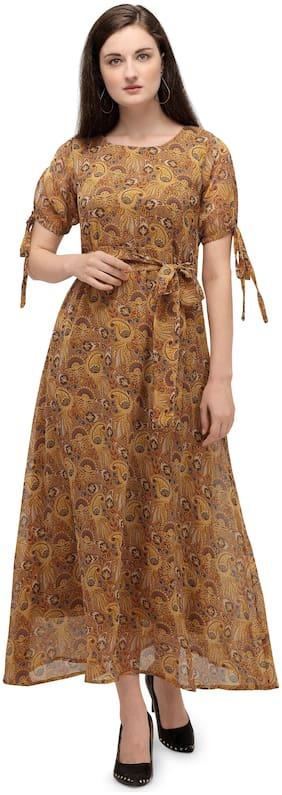 Serein Yellow Floral Maxi dress