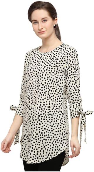 Serein Women Polka dots Shirt style - White