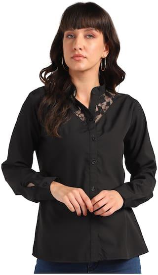 Serein Women Solid Shirt style - Black
