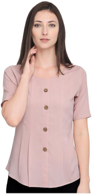 Serein Women Solid Blouson top - Pink