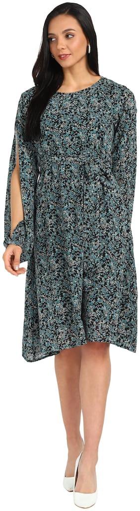 Serein Women Georgette Floral Multi A Line Dress