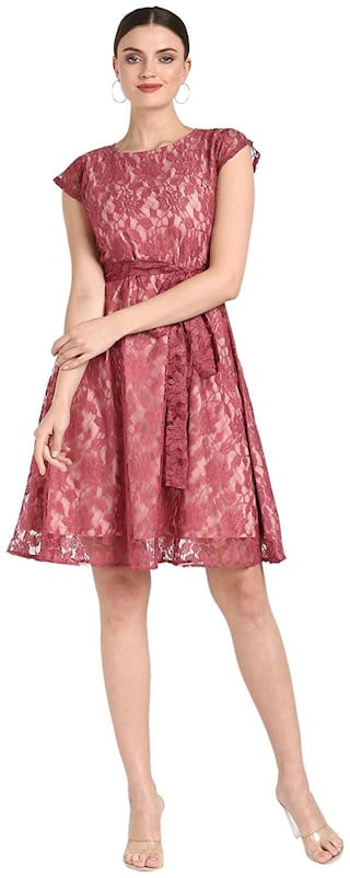 Serein Pink Floral Fit & flare dress