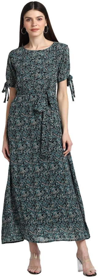 Serein Women Georgette Floral Multi A Line Dress