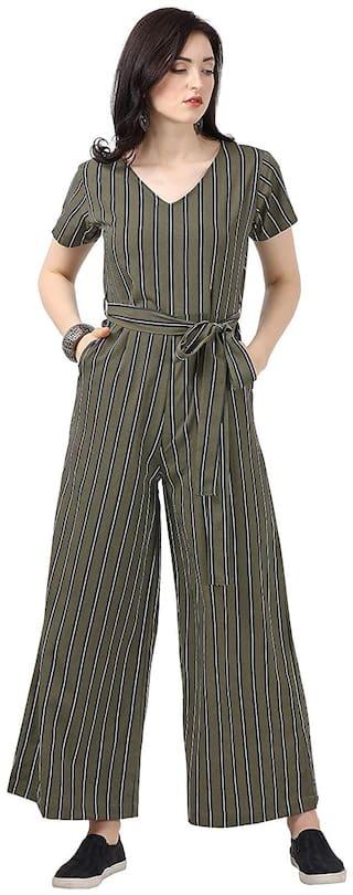 Serein Striped Jumpsuit - Multi