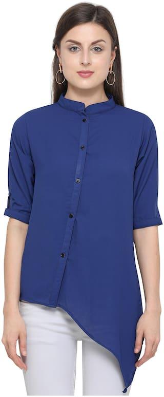 Serein Women Solid Shirt style - Blue