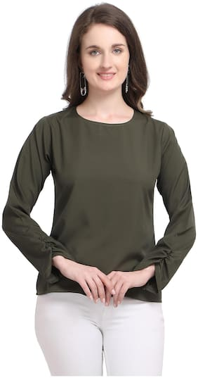 Serein Women Solid Regular top - Green
