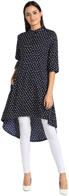Serein Women Blue Printed Regular Kurti