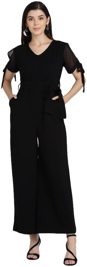 Serein Solid Jumpsuit - Black