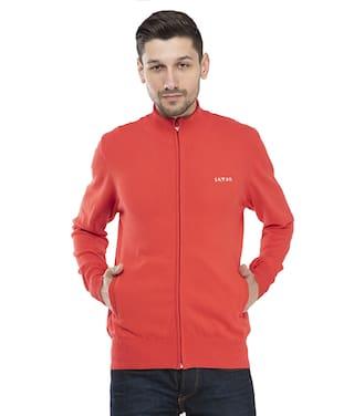 Seven Men Orange Solid Sports jacket