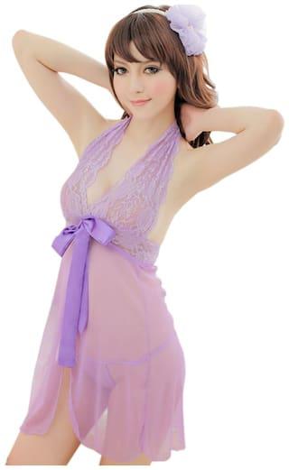 Sexy Honeymoon Lingerie For Women / Ladies and Girls Nightwear Net Babydoll Dress Sleepwear