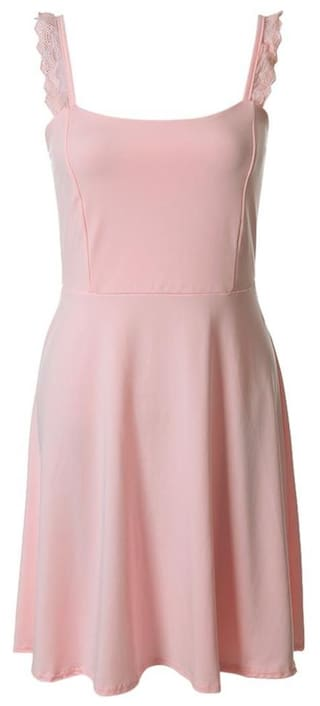 Sexy Sweetheart Neck Sleeveless Solid Color Lace-Up Women's Dress