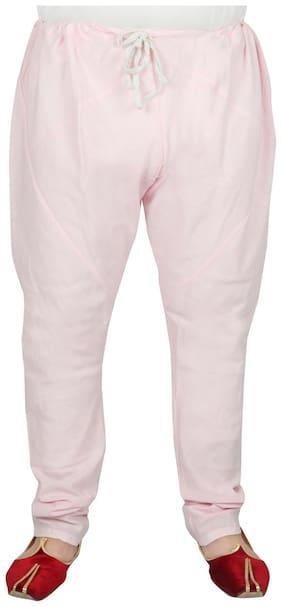 SG LEMAN Dupion Solid Churidar Pink