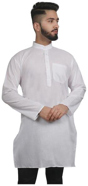 SG LEMAN Men White Regular Fit Kurta