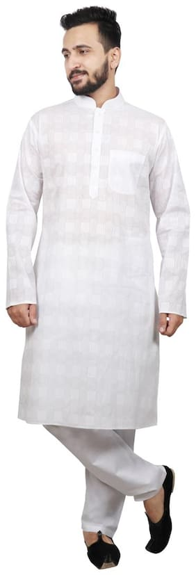SG LEMAN Kurta pyjama For Men-White