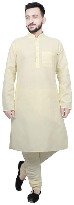 SG LEMAN Kurta Pyjama For Men - Yellow